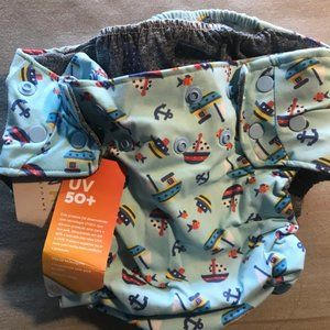 adorable diaper baby swimsuit with spf50